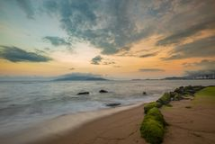 Colourful Evening Sky Nha Trang Vietnam Stock Photos