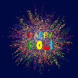 Colourful explosion for Happy Holi. Illustration of abstract colorful Happy Holi background. Indian Festival of Colours vector illustration