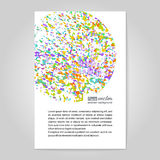 Colourful explosion. Poster. Royalty Free Stock Photography