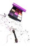 Colourful eye makeup Royalty Free Stock Image