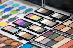 Colourful eyeshadow palette Royalty Free Stock Images