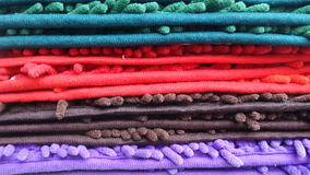 Colourful fabric line Royalty Free Stock Images