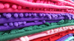 Colourful fabric line Stock Image