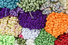 Colourful Fabric in a market Stock Image