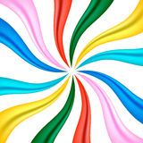 Colourful fabric ribbon Stock Images
