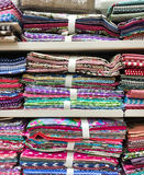 Colourful fabric samples Royalty Free Stock Photo