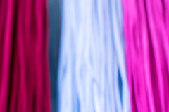 Colourful fabric tissue for sale on display at the market Royalty Free Stock Photo