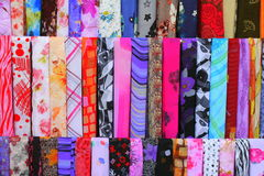 Colourful fabrics for sale Royalty Free Stock Image