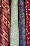 colourful fabrics from the silk and the cotton Stock Images