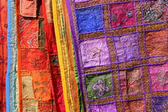 Colourful fabrics for sale Royalty Free Stock Photo