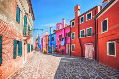 Colourful facade on Burano, province of Venice Royalty Free Stock Photo