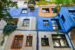Colourful Facade of the Hundertwasser House Royalty Free Stock Photography