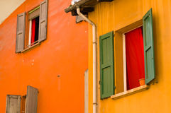 Free Colourful Faceade And Wooden Window Shutters, Bologna, Italy Royalty Free Stock Photography - 96583697