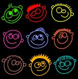Colourful faces vector illustration