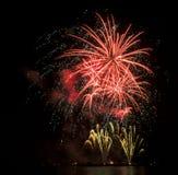 Colourful fajerwerki Zdjęcie Royalty Free