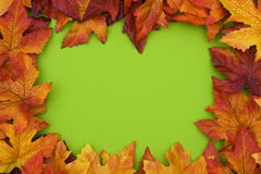 Colourful Fall Background Frame Stock Photo