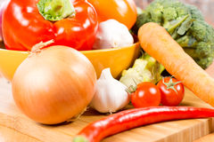 Colourful farm fresh vegetables Stock Photos