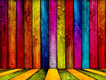 Colourful fence Royalty Free Stock Image