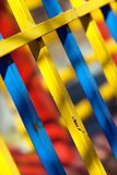 Colourful fencing. Some colourful fencing background (close-up Stock Photography