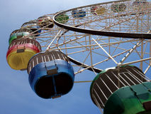 Colourful ferris wheel. A colourful ferris wheel in Australia royalty free stock photo
