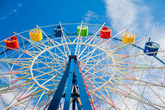 A colourful ferris wheel Royalty Free Stock Image