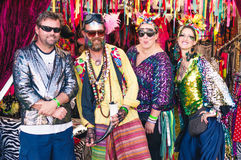 Colourful Festival Goers at Womad Festival Royalty Free Stock Photo