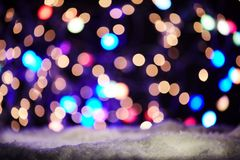 Colourful festive sparkling bokeh of party lights Stock Photos