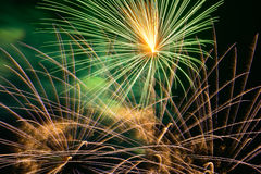 Colourful fire work for background Royalty Free Stock Photos