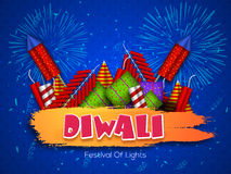Colourful firecrackers for Happy Diwali celebration. Stock Photo