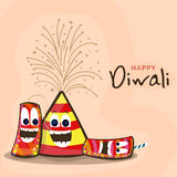 Colourful firecrackers for Happy Diwali celebration. Indian Festival of Lights, Happy Diwali celebration with funny colourful firecrackers Royalty Free Stock Photography