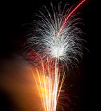 Colourful Firework display stock photography