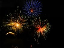 Colourful Fireworks royalty free stock photography
