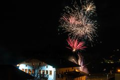 New Year`s Day Fireworks royalty free stock image