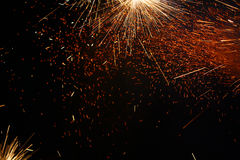 Colourful Fireworks Close Up, With Copyspace Royalty Free Stock Photos