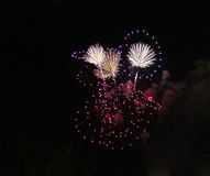 Colourful fireworks display Royalty Free Stock Photography
