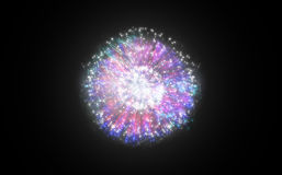 Colourful fireworks exploding on black background Royalty Free Stock Photography