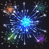Colourful Fireworks Stock Images