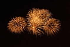Colourful fireworks isolated in dark background close up with the place for text in Malta Royalty Free Stock Images