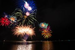 Colourful fireworks Royalty Free Stock Image