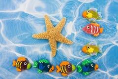 Colourful Fish Border stock photo