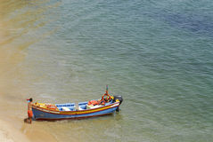 Colourful Fisherman Boat for Guided Tours, Algarve Royalty Free Stock Images
