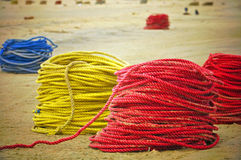 Colourful Fishing Ropes Stock Photo