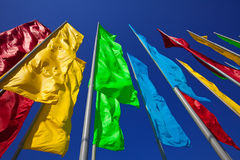 Colourful flags Royalty Free Stock Photography