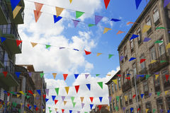 Colourful flags Stock Image