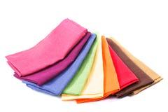 Colourful flax texrile heap Stock Photos