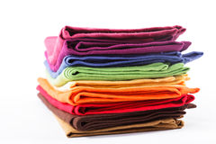 Colourful flax texrile heap Royalty Free Stock Photo