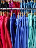 Colourful Fleece Jackets Royalty Free Stock Image