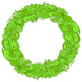 Colourful floral wreath Royalty Free Stock Images