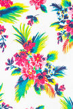 Colourful flower on fabric Background Stock Image