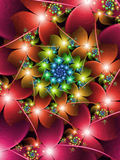 Colourful Flower Fractal Stock Image